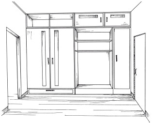 встроенные шкафы-купе в прихожую фото внутри